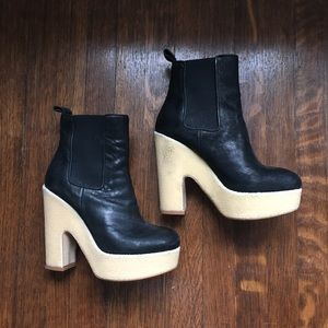 All Saints Blaise Heeled Booties Size 38